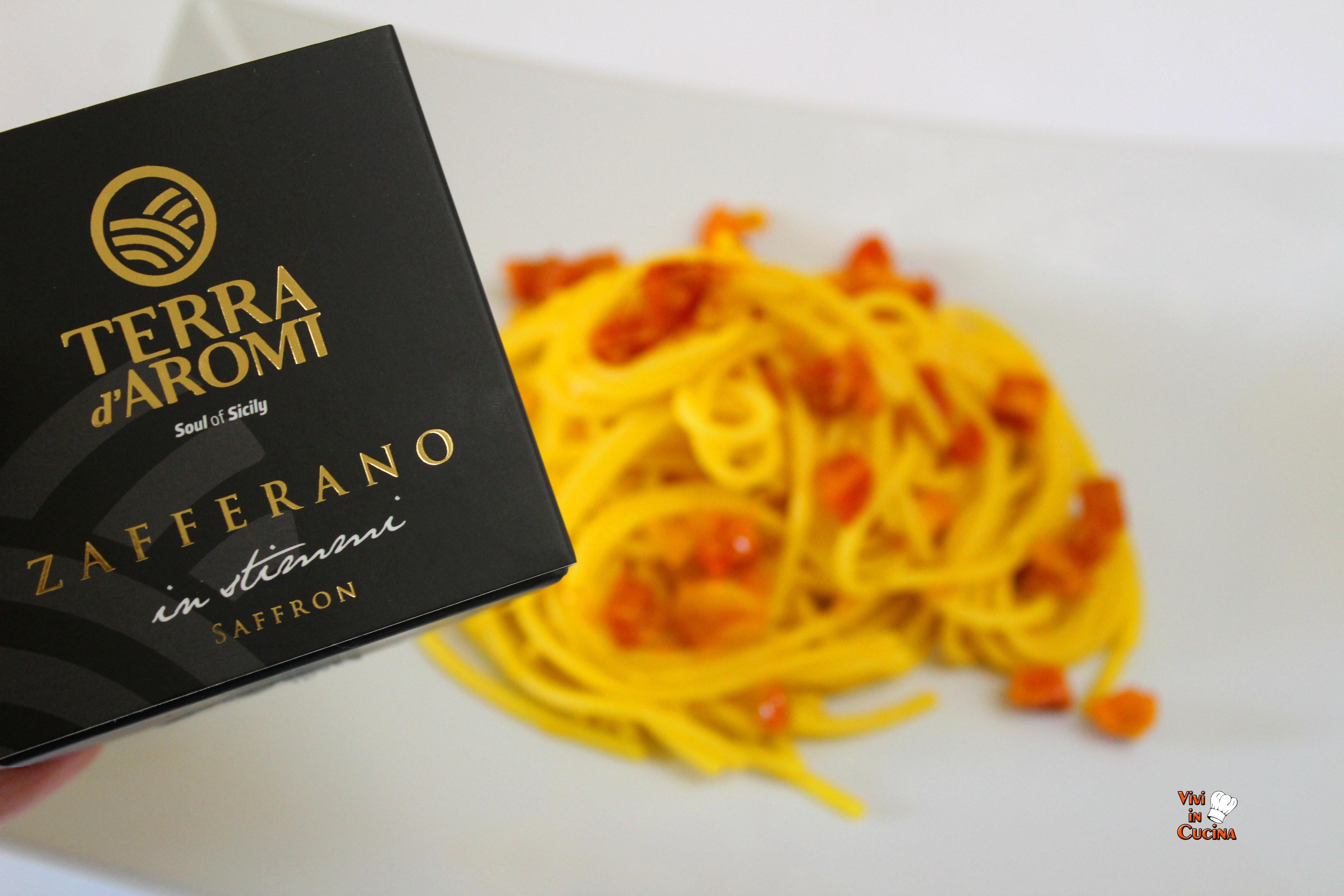 spaghetti zafferano e pancetta