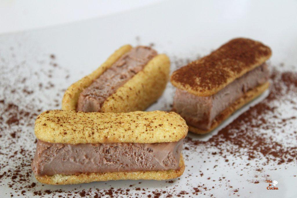 gelato alla nutella con pavesini