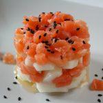 Tartare di cetriolo e salmone