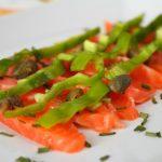 Carpaccio di salmone con peperone