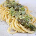 Spaghetti asparagi e philadelphia